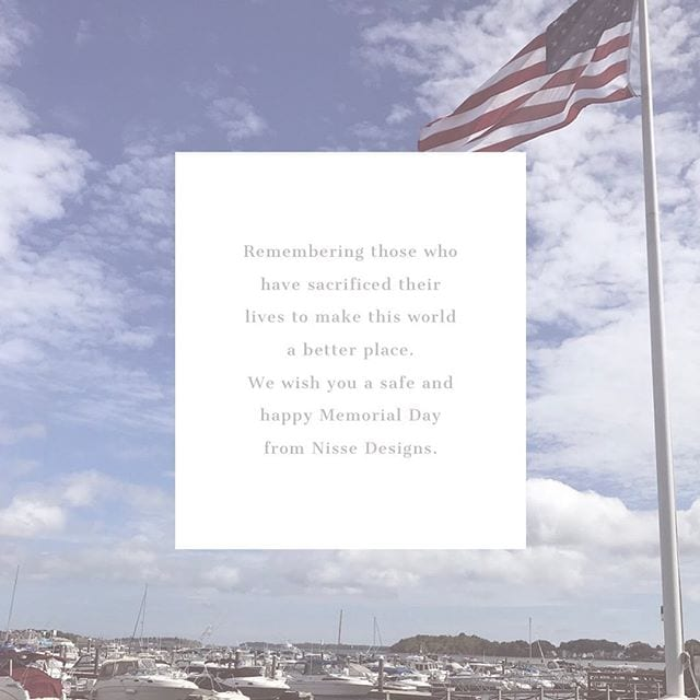 Happy Memorial Day from Nisse Designs